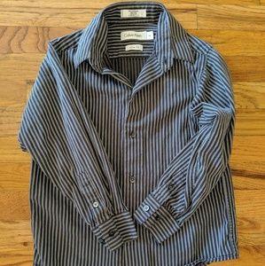 Calvin Klein Boys' Long Sleeve Button Up
